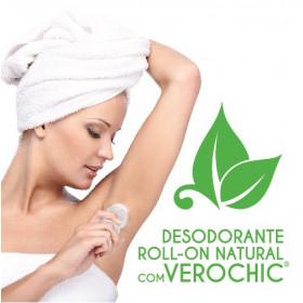 DESODORANTE ROLL-ON NATURAL COM VEROCHIC® (sem alumínio e sais de alumínio)